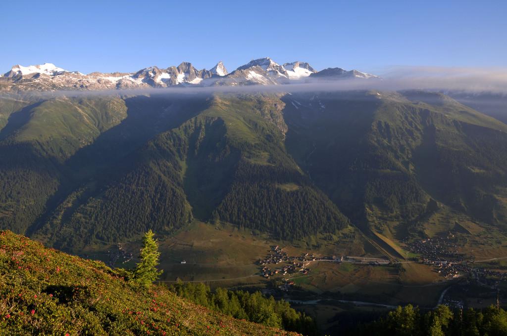 Reckingen-Gluringen und die Alpen