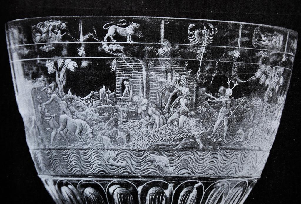 Doppelpokal aus Bergkristall. Mailand, nach 1550.