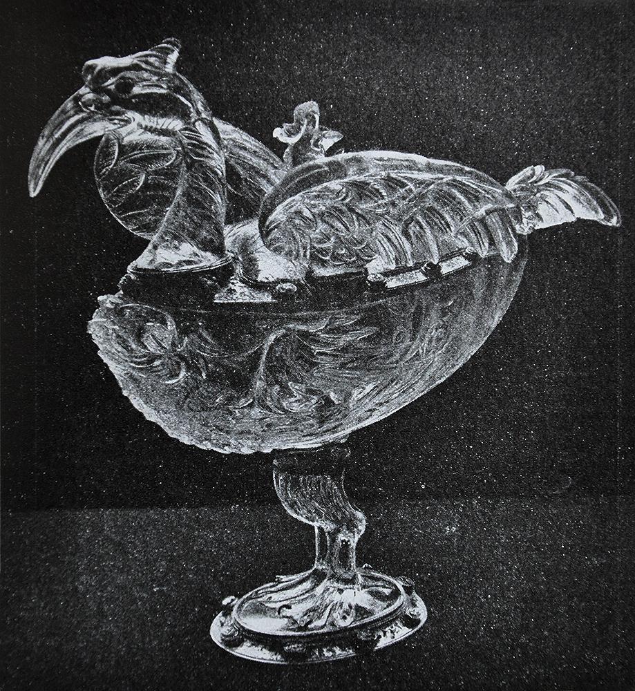 Trinkgefäss in Vogelgestalt. Mailändischer Meister aus der Werkstatt der Saracchi, Ende 16. JH.